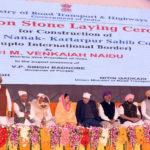 Vice president of India lays foundation stone for Kartarpur Sahib corridor