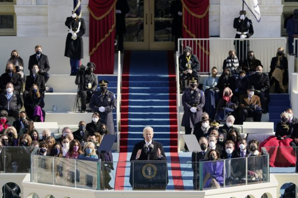 Joe Biden takes the helm as president: 'Democracy has prevailed'