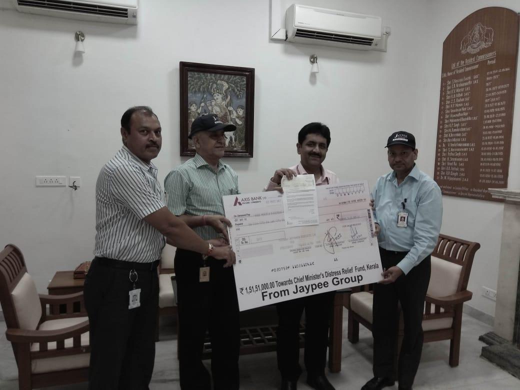 Jaypee group donates Rs 1.5 crore for flood-hit Kerala