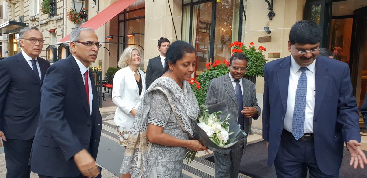 Defence minister of India visits Rafale manufacturing facility in France