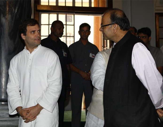 Petrol price cut: Arun Jaitley questions commitment of Rahul Gandhi, his allies