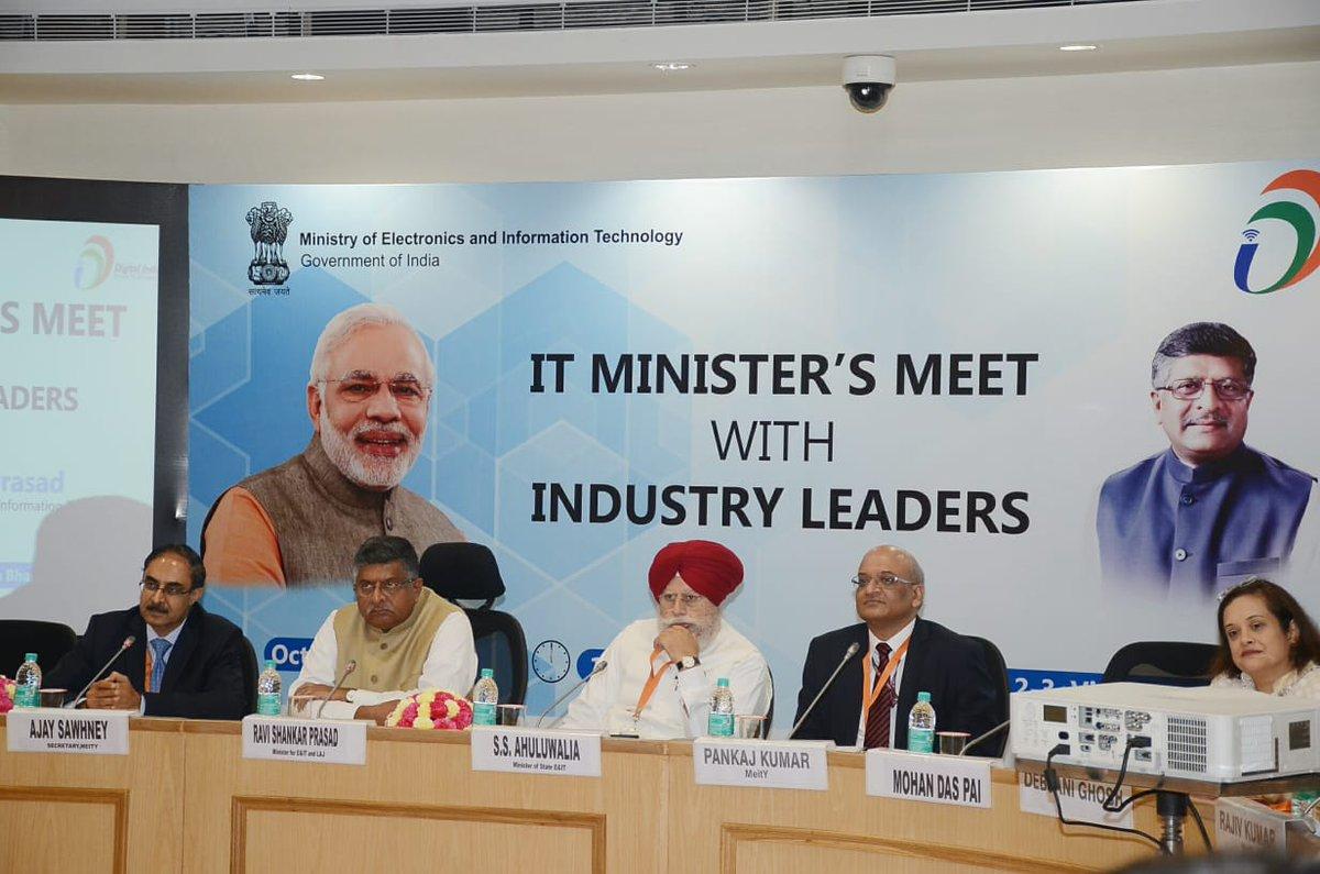 Ravi Shankar Prasad meets top IT honchos, says industry will team up for social initiatives