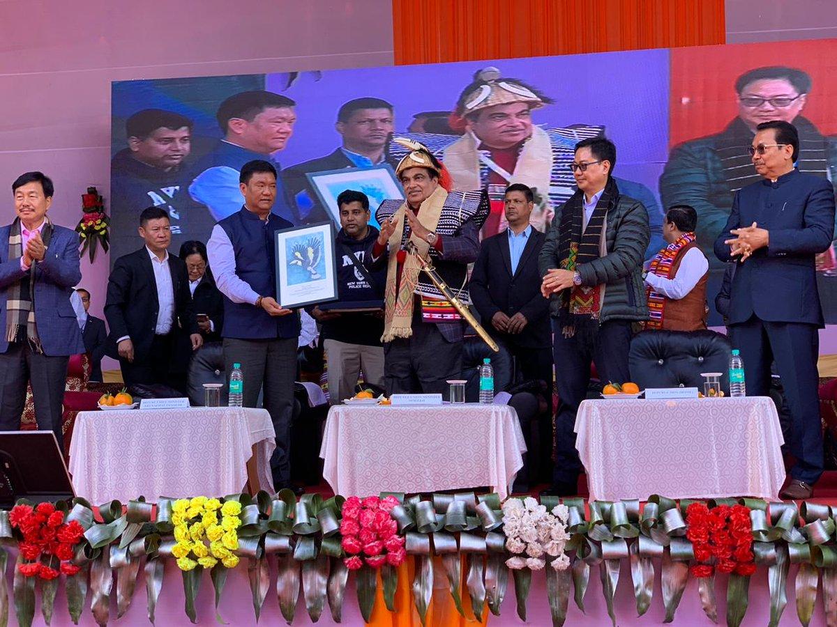 Nitin Gadkari lays foundation for projects worth Rs 9533 crore in Arunachal Pradesh