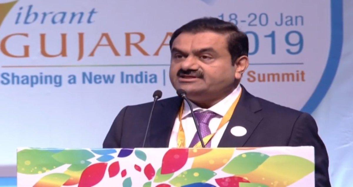 Gautam Adani announces Rs 55,000 crore investment in Gujarat in next 5 years