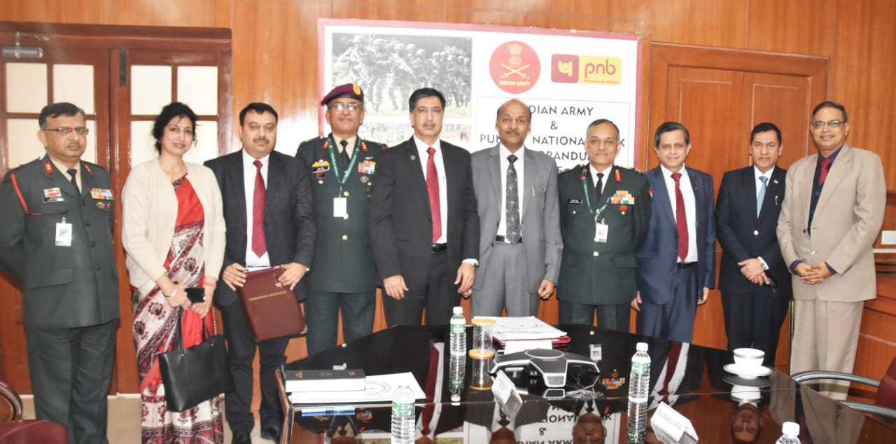 Indian Army signs MoU with and PNB