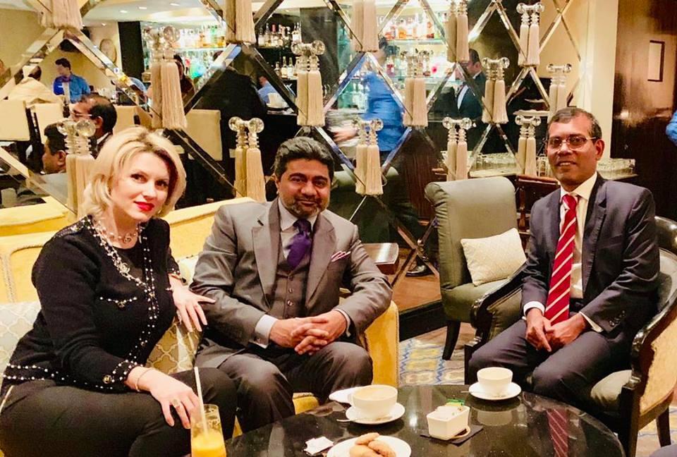 Billionaire Abhishek Verma meets former Maldives president Mohamed Nasheed