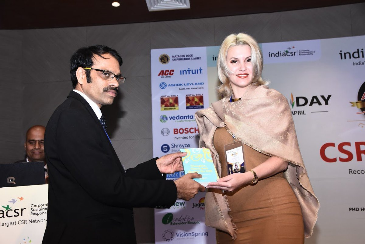 Anca Verma gets CSR Leadership Summit Award