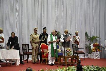 Yediyurappa sworn in as Karnataka Chief Minister