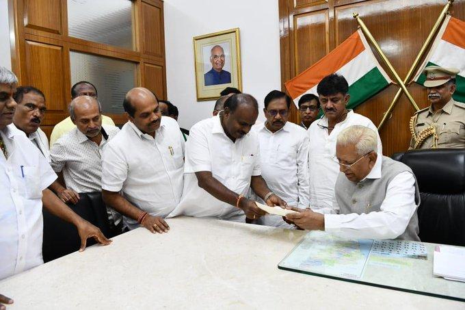 Karnataka Chief Minister submits resignation to Governor