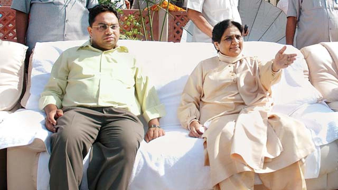 IT dept attaches Rs 400 crore 'benami' plot of Mayawati's brother, wife