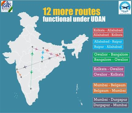 Functional routes under UDAN rises to 186