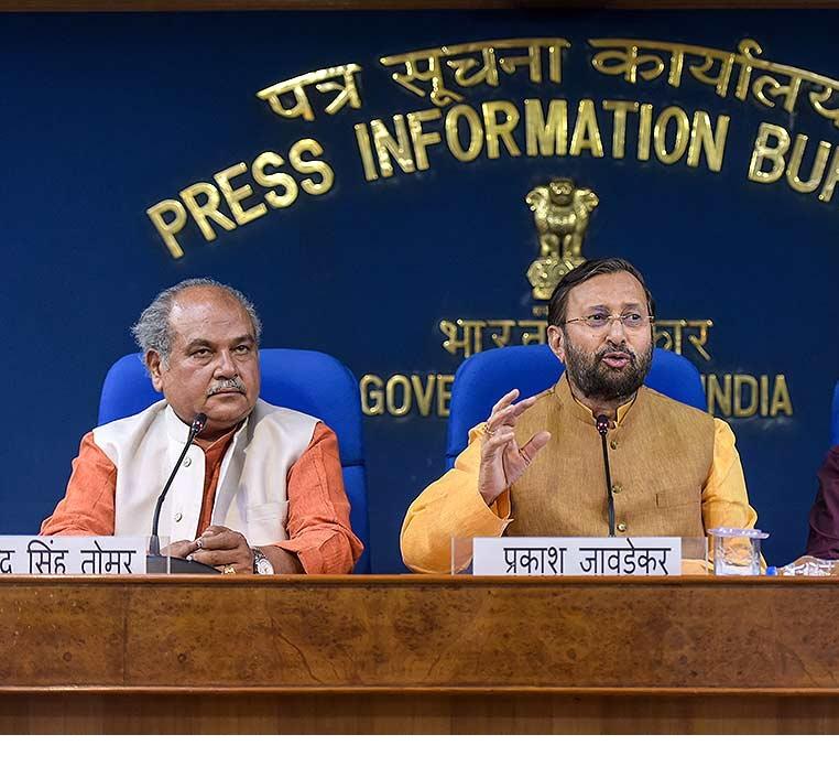 BJP appoints Prakash Javadekar and Narendra Singh Tomar as poll incharge for Delhi, Haryana respectively