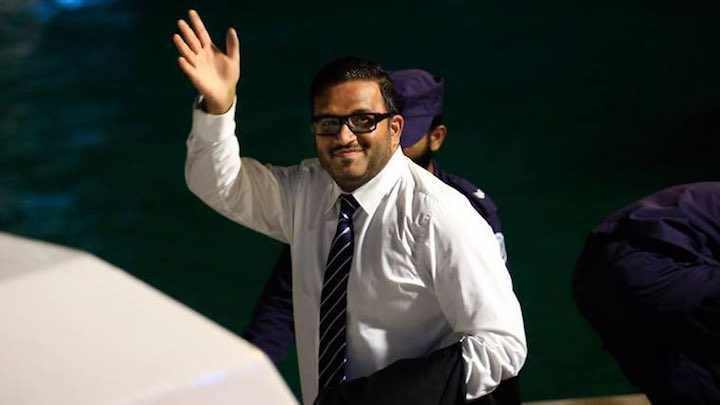 Ex Vice President of Maldives stays put in ship, no word on exit