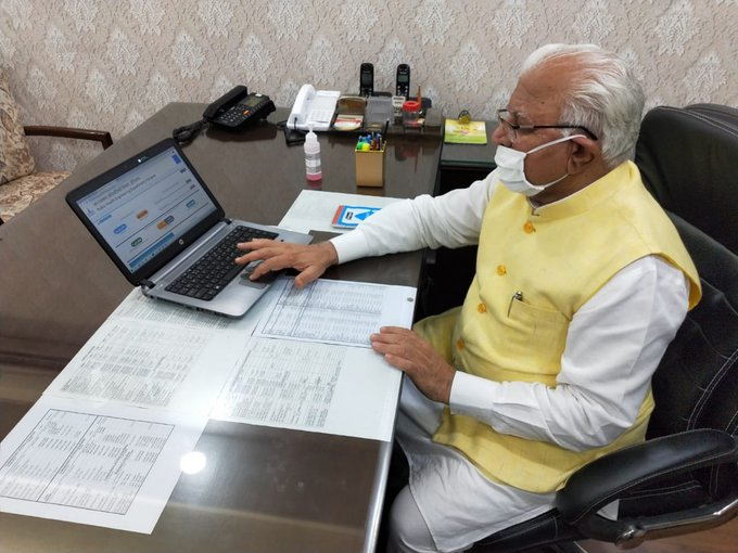 Haryana Chief Minister chairs all-party meet on Covid-19 situation