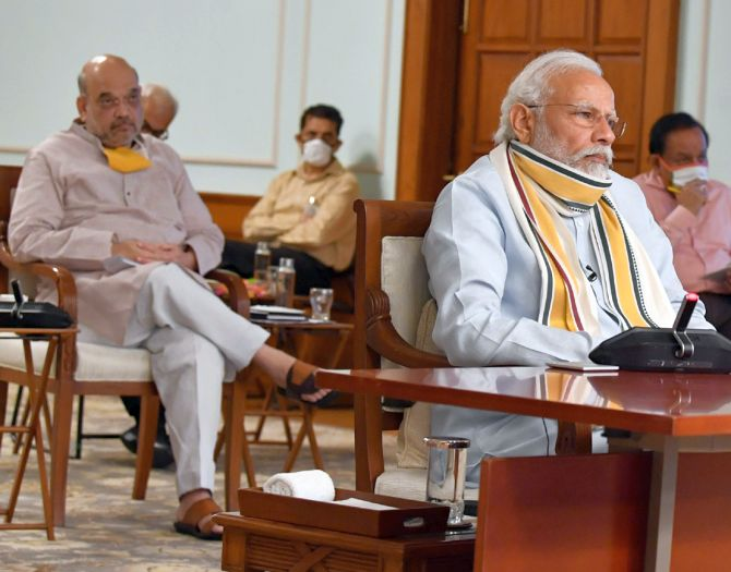 Amit Shah meets Prime Minister; briefs on CMs views on lockdown
