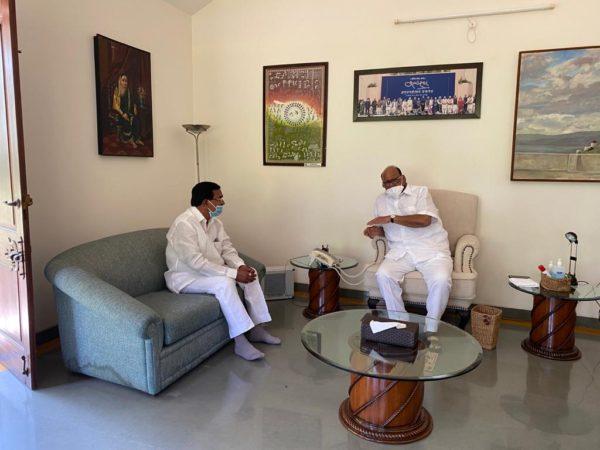 Telangana agriculture minister meets Sharad Pawar in Baramati