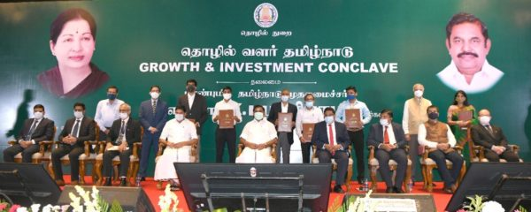 Tamil Nadu signs 18 MoUs worth Rs 19,955 crore, projects to create 26,500 jobs