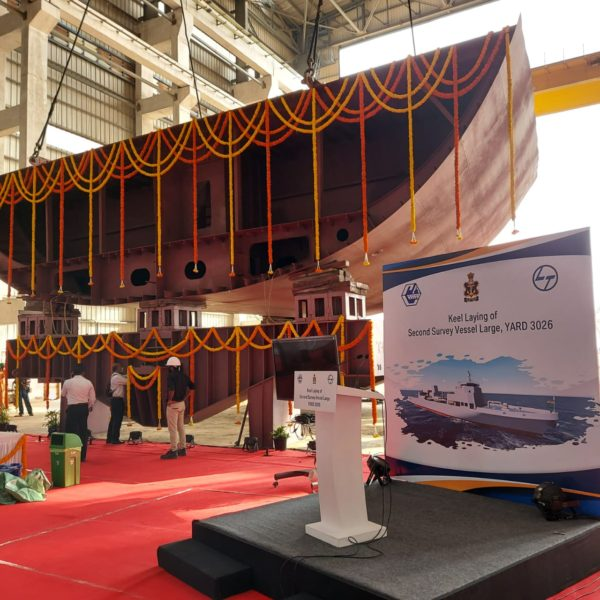 Garden Reach Shipbuilders and Engineers laid keel of 2nd Survey Vessel in Chennai