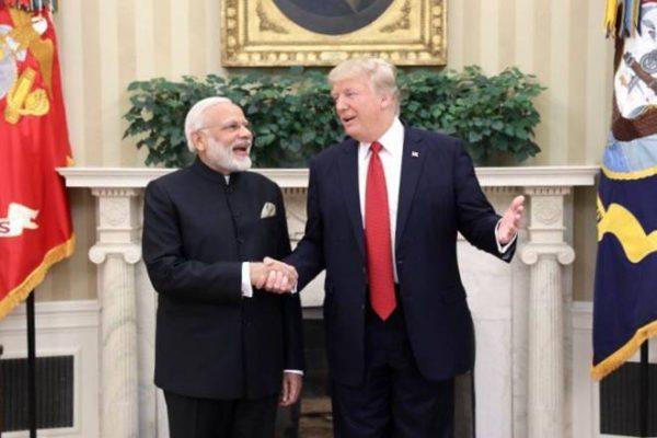 Donald Trump presents Legion of Merit to Narendra Modi