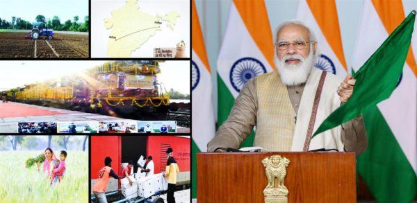 Narendra Modi flags off 100th Kisan Rail