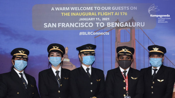 Air India flight with all-woman cockpit crew successfully lands at Bengaluru airport