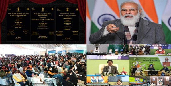 Narendra Modi lays foundation stone of Light House projects across six states
