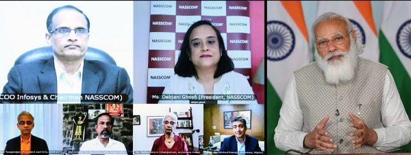 Narendra Modi addresses NASSCOM Technology and Leadership Forum
