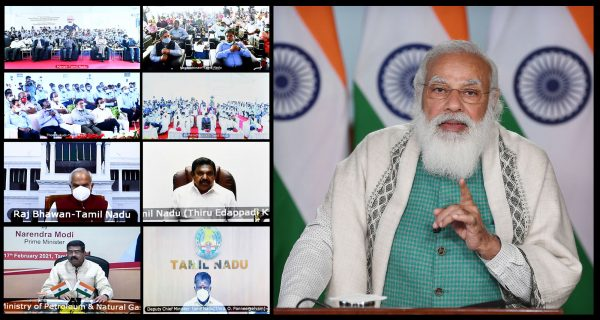 Narendra Modi dedicates to nation, lays foundation stone of key projects of oil and gas sector in Tamil Nadu