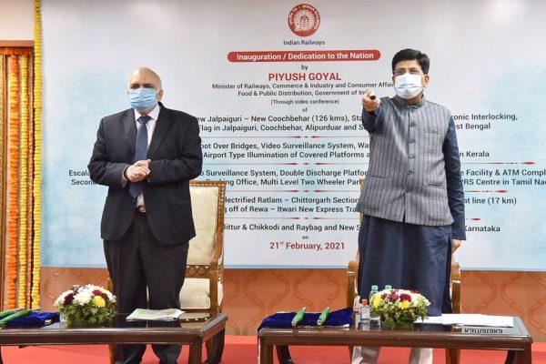 Piyush Goyal dedicates 88 Railway projects in Kerala, Tamil Nadu, Madhya Pradesh , West Bengal and Karnataka