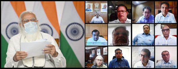 Narendra Modi interacts with leading oxygen manufacturers across country