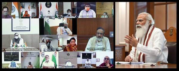 Covid-19 crisis: Narendra Modi chairs meeting of council of ministers