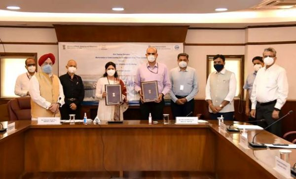 Shipping Ministry and Civil Aviation Ministry signs MoU for development of Sea Plane Services