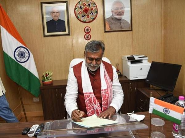 Pashu Pati Kumar Paras takes charge as Union Minister for Food Processing Industries;Prahlad Singh Patel takes charge as Mos