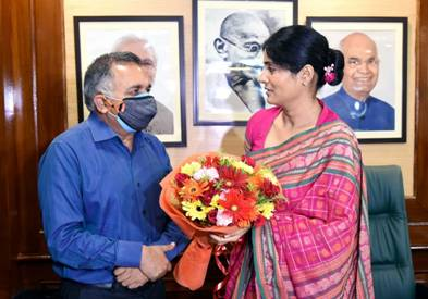 Anupriya Patel takes charge as Minister of State of Ministry of Commerce and Industry