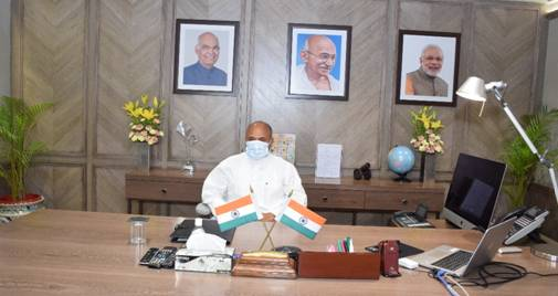 Ramchandra Prasad Singh takes charge of Ministry of Steel as Cabinet Minister