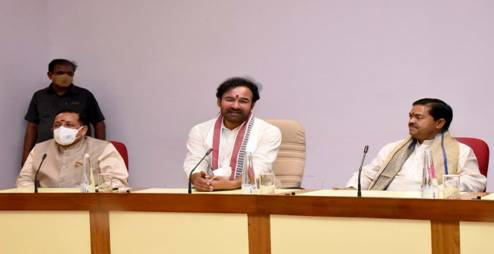 G.Kishan Reddy takes charge as Union Minister of Development of North Eastern Region;B.L.Verma takes charge as MoS