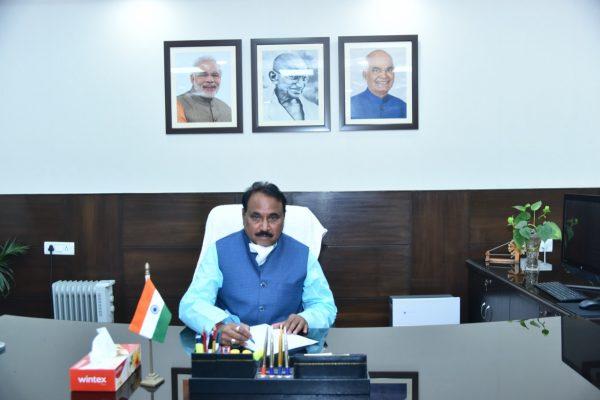 Narayan Tatu Rane and MoS Bhanu Pratap Singh Verma assume charge of the Ministry of Micro, Small and Medium Enterprises