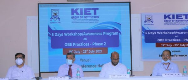 KIET Group organized 5-Day workshop on Outcome Based Education