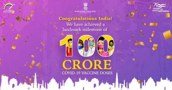India achieves the major milestone of 'one billion' Covid-19 vaccinations